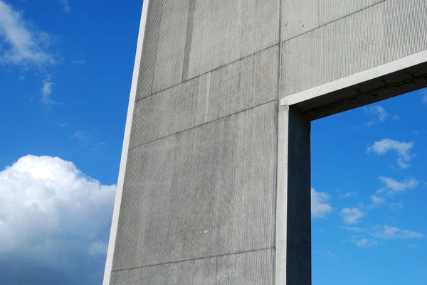 Pillar: Concrete Pillar for a modern office building.