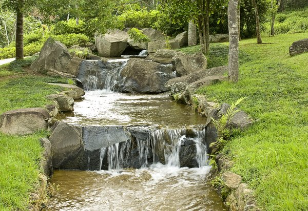 waterfall 3: A small waterfall in Solo Sagrado´s park
