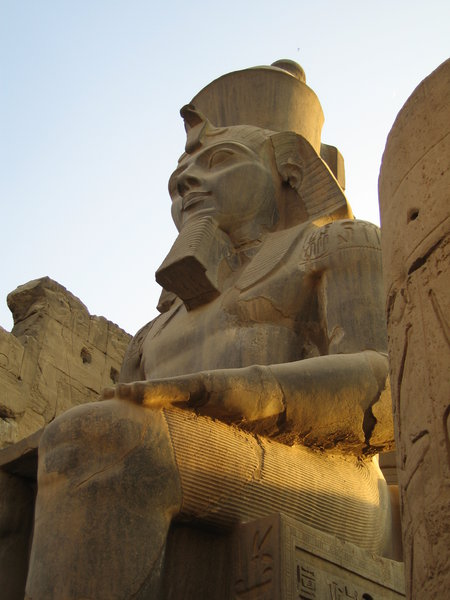 Rameses at Luxor: The statue of Rameses II in Luxor Temple, son of Set I