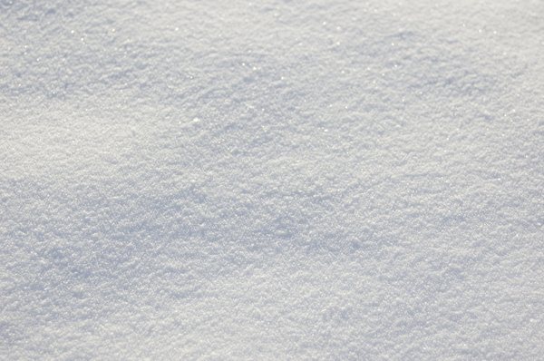 Snow: The photo series, showing snow upclose, farther out, and still farther out.