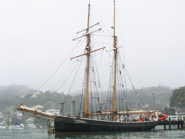 ~ Old sailing ship: R. Tucker Thompson in Russell, Bay of Islands, New Zealand