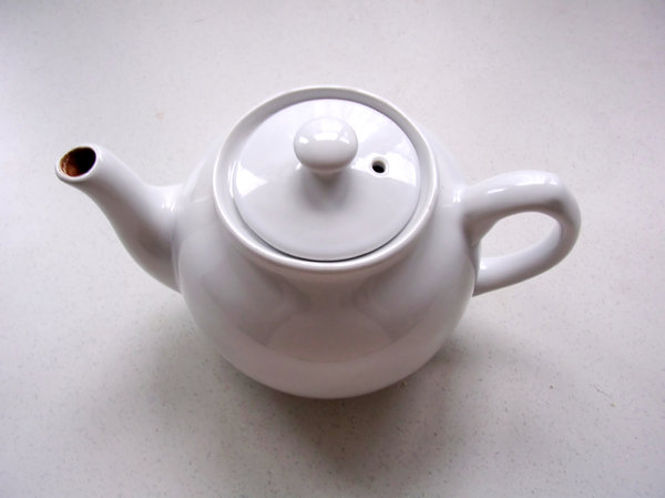 Teapot 1: Heather's white english teapot.