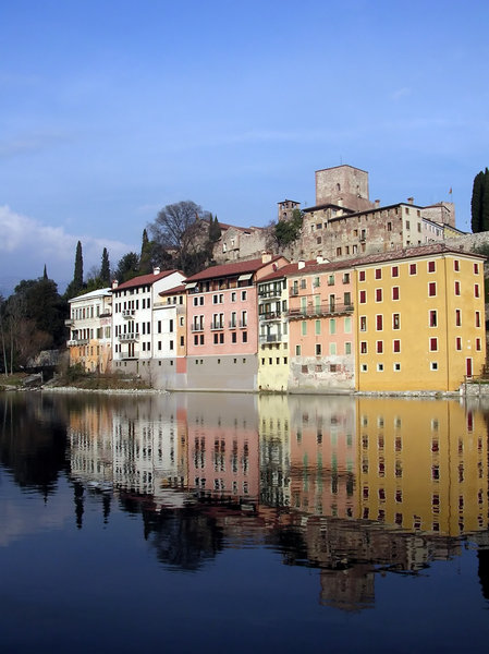 Reflections 2: Taken on  the banks of the river running through Bassano del Grappa in Italy.