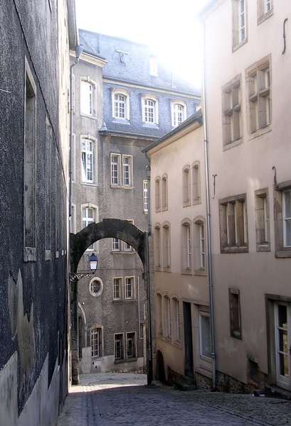 Luxembourg Street 2: A narrow cobbled street in Luxembourg.