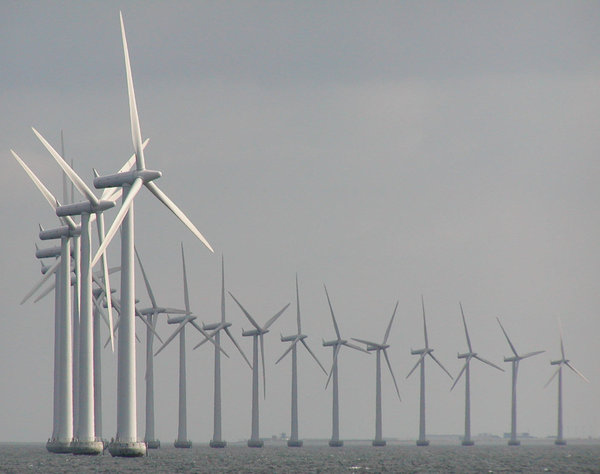 Windmills at sea: Outside Copenhagen
