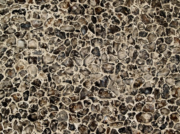 Texture - granite: in fact: the wall of a church