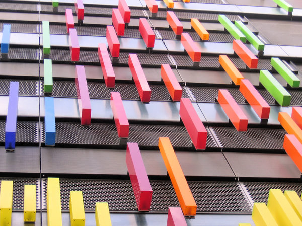 abstract colourful facade: abstract colourful facade