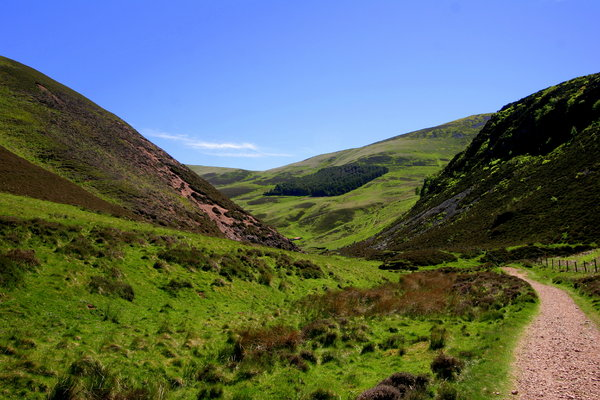 Pentlands Landscape: Landscape of a valley in the Pentlands Hills near Edinburgh, Scotland