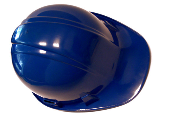 blue hard hat: blue safety helmet