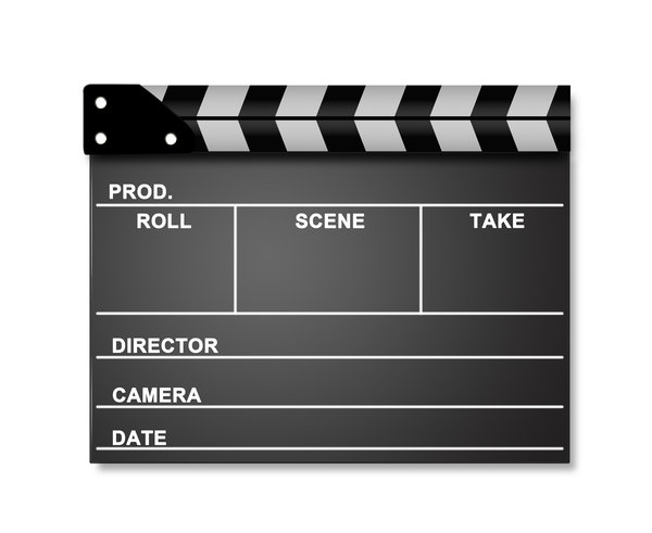 Movie clapperboard series: clapperboard isolated on white background