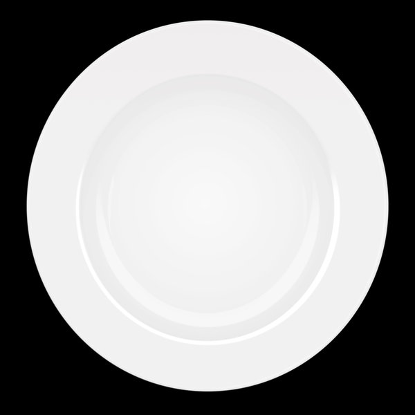 Ceramic Plate: 2d rendered image of ceramic plate isolated on black background