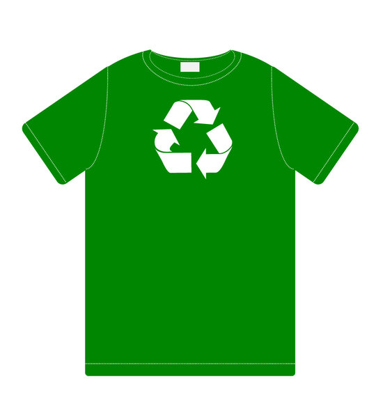 Recycling: recycle icon on tshirt print