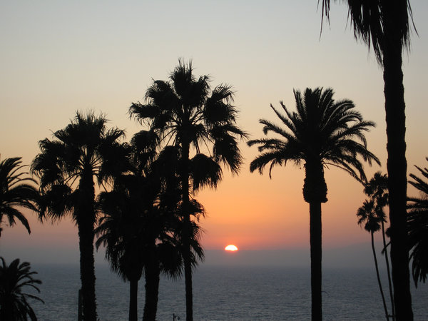 Sunset in Santa Monica: One of the sunsets at Santa Monica, California