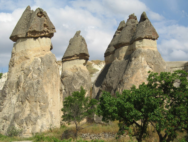Fairy chimneys in Zelve: Fairy chimneys in the Zelve valley, Cappadocia, central Turkey