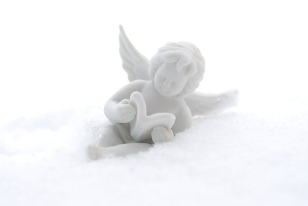 Angel on the snow: China decoration on the snow