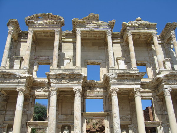 Library of Celsus: The library of Celsus at Ephesus in Aegean Turkey