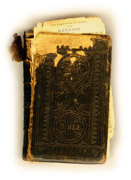 Vintage Bible: A very old Christian Bible.Please visit my gallery at:http://www.thinkstockphot ..and:http://www.dreamstime.com ..