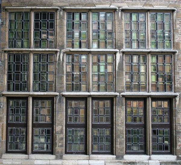 Old windows: Windows from an ancient house in Belgium.