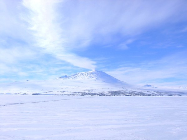 Mt. Erebus  Antarctica: Resupply mission to McMurdo Station Antarctica 2006.Active Volcano.