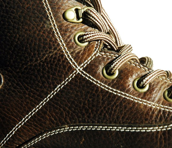 Boot Closeup: Hiking boot laces