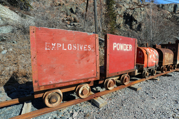 Exposives Cart: This was used underground in the 50's at the Giant Mine in Yellowknife, NWT, Canada