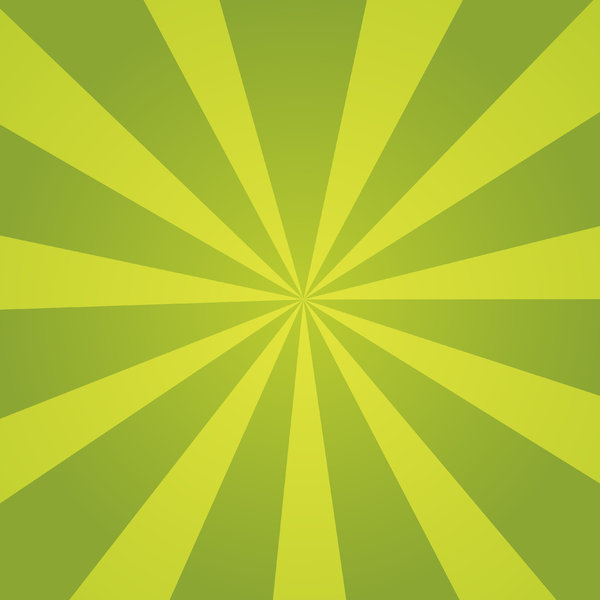 Green Sunburst: Green sunburst background texture.  Spring theme.