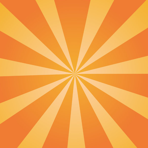 Orange Sunburst: Orange sunburst background texture.  Autumn theme.