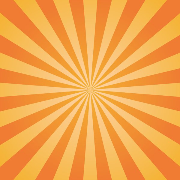 Orange Sunburst 2: Orange Sunburst background texture.  Autumn theme.
