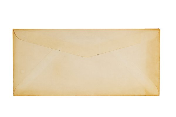 Old Envelope Texture: A really old envelope that never got mailed and it yellowed around the edges.