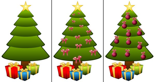 Christmas trees: Christmas trees on a white background