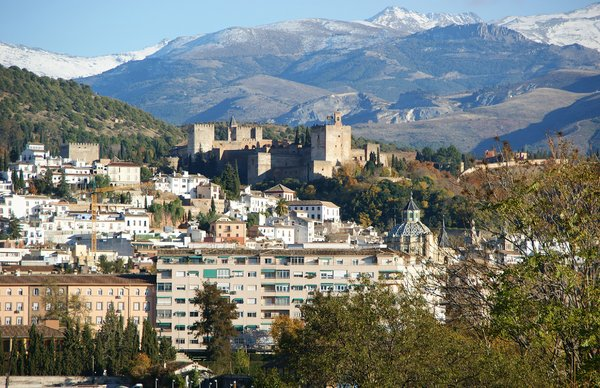 The Alhambra: La Alhambra and the city of Granada.