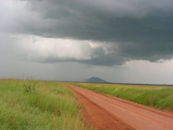 red road: photo taken in tanzania
