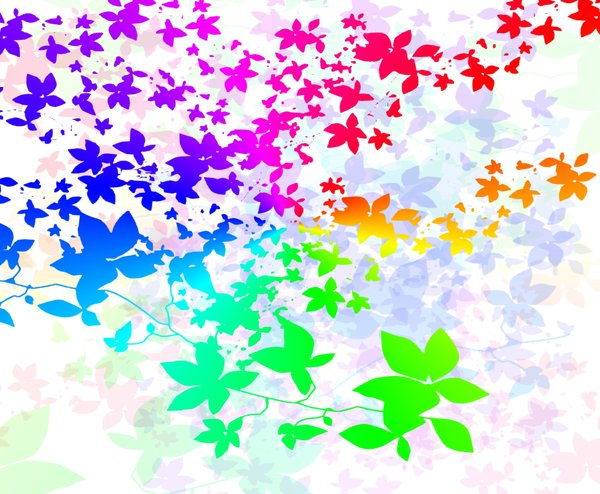 Springtime Pattern: A wonderful spring/summer pattern of leaf shapes, light and colour. Created using a free for commercial use shape.