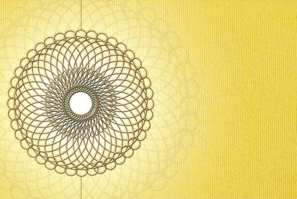 Spiro: Geometrical circles on yellow background