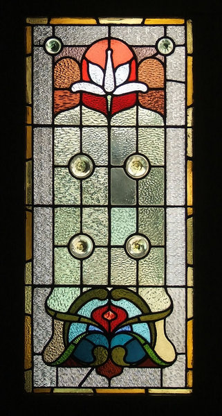 door glass 5: stained glass windows in door