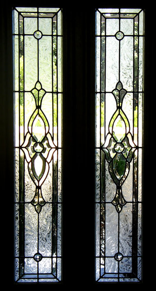 door windows: stained glass door windows
