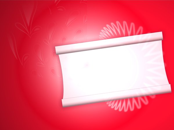 Red and White Banner 2: Abstract red background with blank white area for text. Can be used as a sign, banner or invitation.