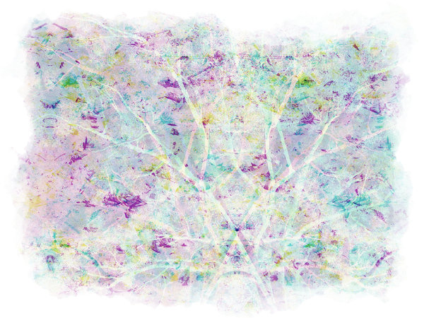 Bright Collage 3: Pastel colours in a marbled texture with a  grunge border on a white background.