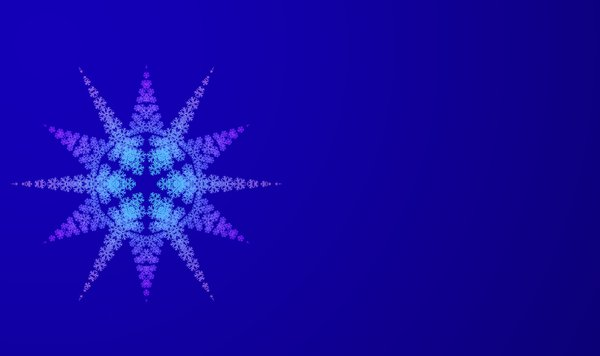 Christmas Star: A Christmas background with an ornate many-pointed star.