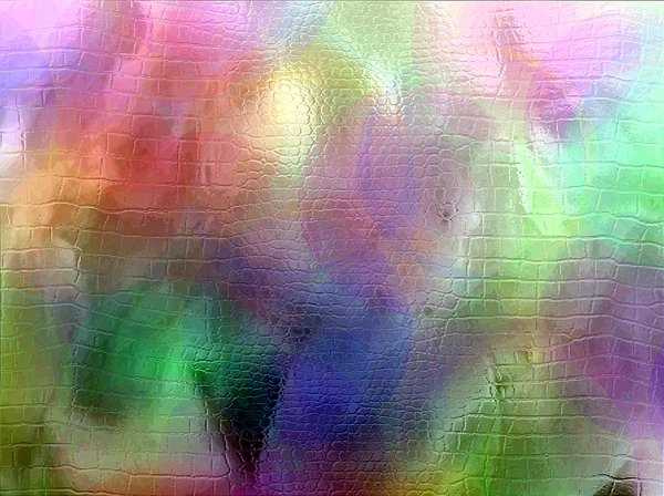 Through a Glass Darkly: Textured glass over rainbow colours. Suitable for a texture, background, fill, or desktop.