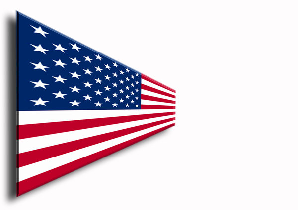 USA National Flag: US flag in vanishing perspective