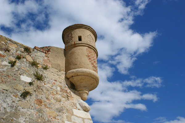 Rampart detail: Watchtower in Ceuta rampart