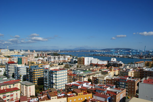 Algeciras 2: City view. Chaotic architecture.