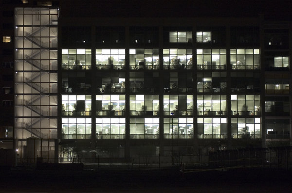 TGen building at night: TGen building in Phoenix at night.