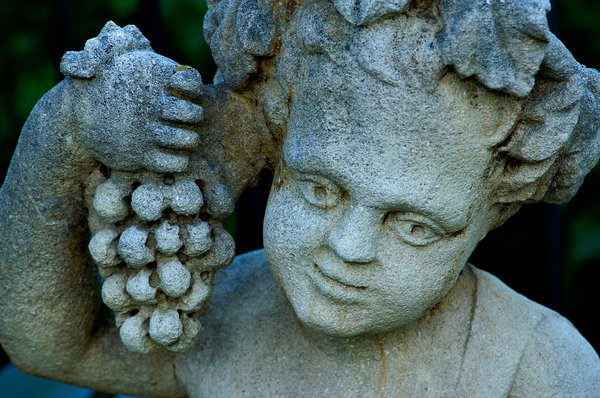 Bacchus statue: Statue of Bacchus, god of wine.