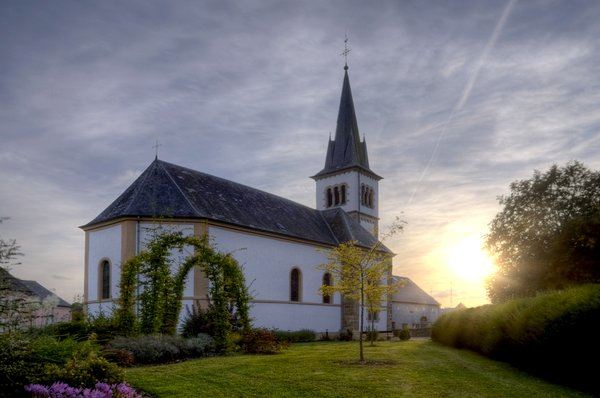 Beidweiler Church - HDR: The church in Beidweiler, Luxembourg. The picture is HDR using 7 images.