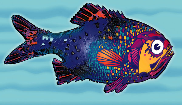 Fish 2: A variation of my colored fish.Please visit my stockxpert gallery:http://www.stockxpert.com ..