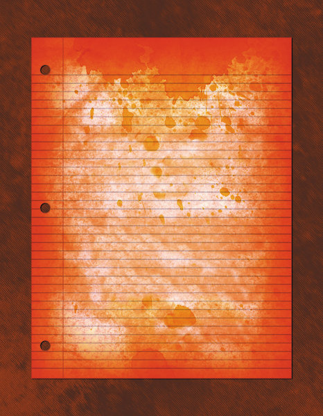 Bloody Paper: Bloody notebook paper.Please visit my stockxpert gallery:http://www.stockxpert.com ..
