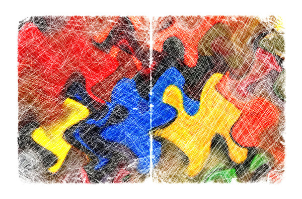 Puzzle: Abstract Painting.Please visit my stockxpert gallery:http://www.stockxpert.com ..