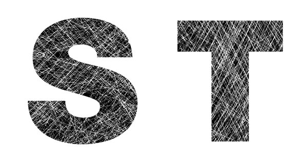 S and T: Distressed Letters.Please visit my stockxpert gallery:http://www.stockxpert.com ..